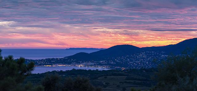 Abendstimmung aus Reisebericht Südfrankreich